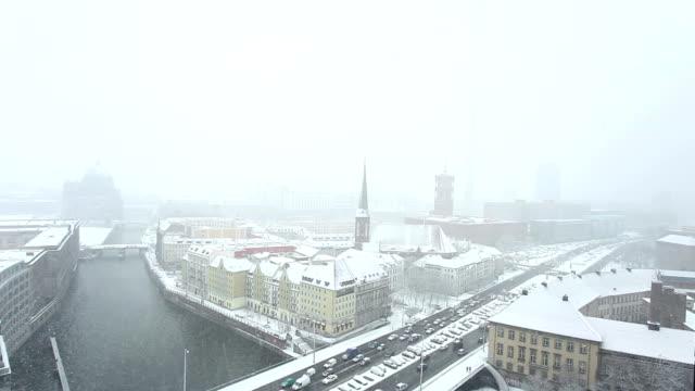 berlin in wintertime - brain stem stock videos & royalty-free footage