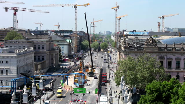 berlin is a big construction site, time lapse - berlin stock videos & royalty-free footage