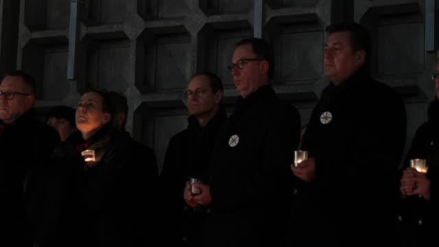 Berlin Major Michael Mueller during a ceremony to commemorate the first anniversary of the 2016 Christmas market terror attack at the site of the...