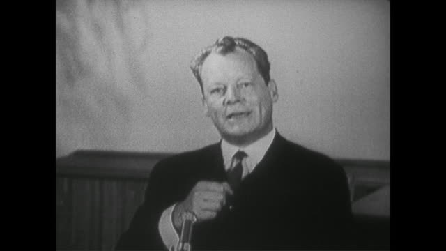 Berlin Mayor Willy Brandt discusses how capitalism must work hard to defeat spread of communism