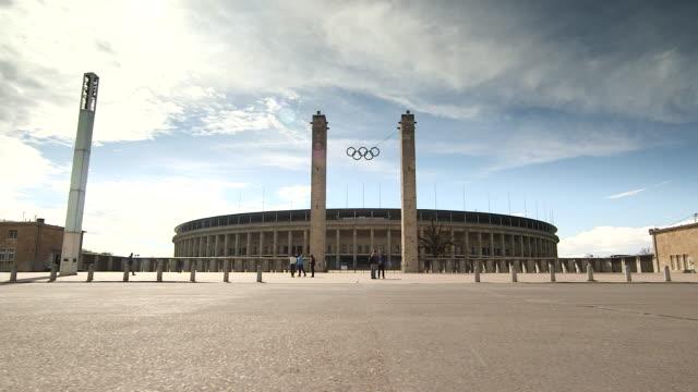 berlin olympic stadium - berlin stock videos & royalty-free footage