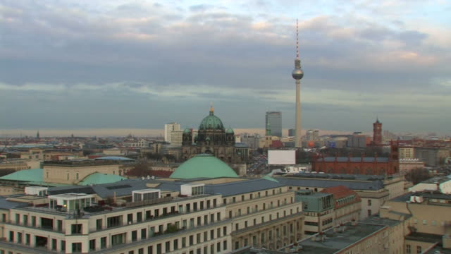 berlin panoramic view - panoramic stock videos and b-roll footage