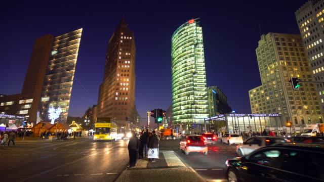 Berlin Potsdamer Platz at sunset, Time Lape