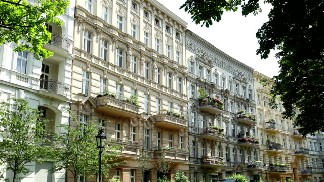 berlin - prenzlauer berg - townhouse stock videos & royalty-free footage