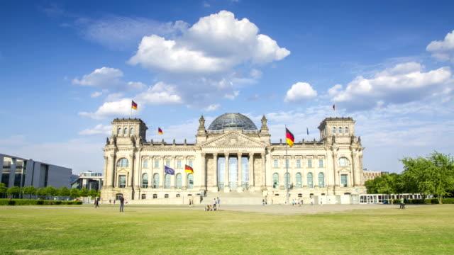 Berliner Reichstag 4K Zeitraffer deutsche Parlamentsgebäude