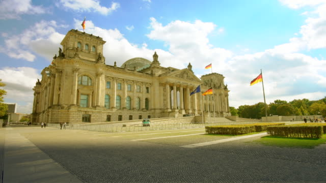 berlin reichstag building establisher, sunny - chancellor of germany stock videos & royalty-free footage