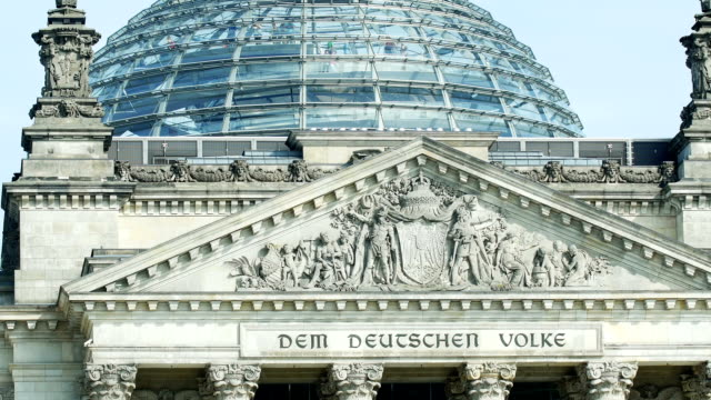 tu berlin reichstag building gable and dome (4k/uhd to hd) - gable stock videos & royalty-free footage
