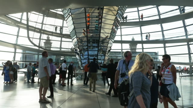 berlin reichstag dome (4k/uhd to hd) - cupola video stock e b–roll