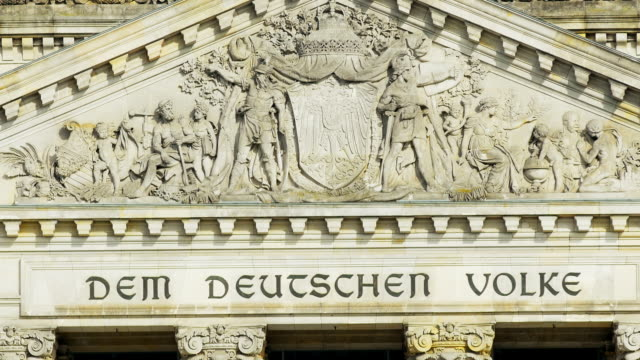 tu berlin reichstag gable and dome viewed from outside - gable stock videos & royalty-free footage
