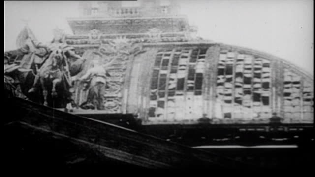 berlin reichstag heavily damaged after fire - 1933 stock videos and b-roll footage