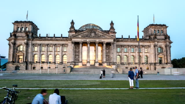 berlin reichstag hyperlapse - the reichstag stock videos & royalty-free footage