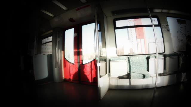 berlin s-bahn - interior stock-videos und b-roll-filmmaterial