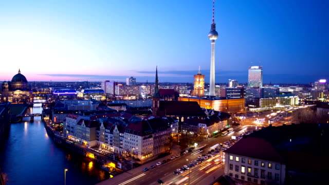 Berlin Skyline at Night