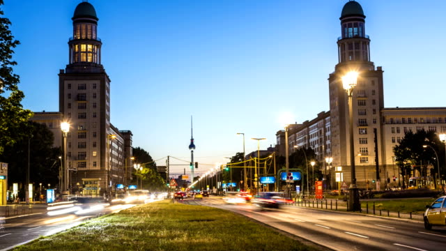 Berlin Skyline Frankfurter Tor, Zeitraffer