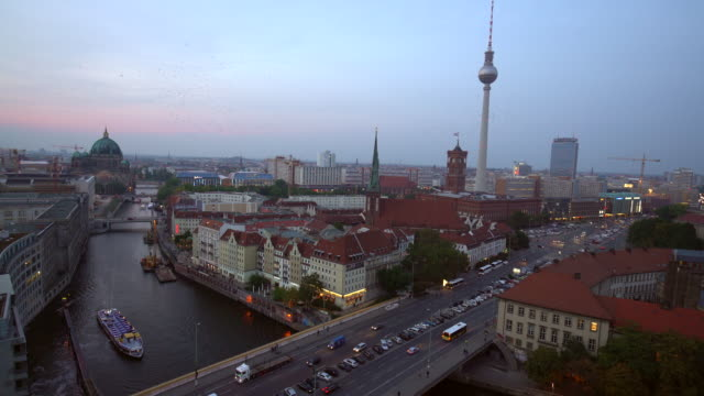 berlin skyline - alexanderplatz stock videos & royalty-free footage