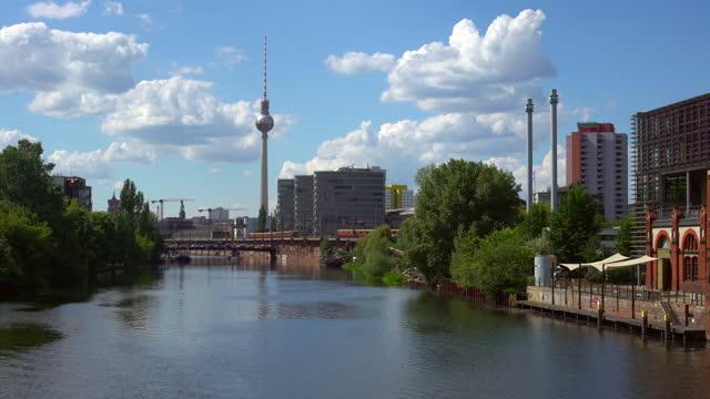 berlin skyline - alexanderplatz stock videos & royalty-free footage