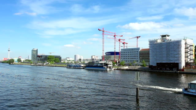 berlin skyline - river spree stock videos & royalty-free footage