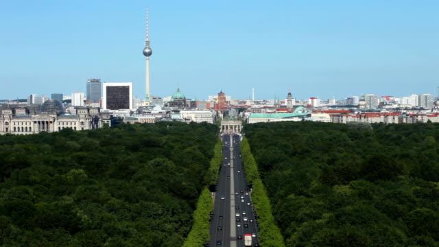 Berlin Skyline with Tiergarten, Time Lapse
