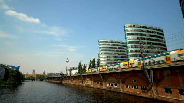 Berlin Skyline with trains
