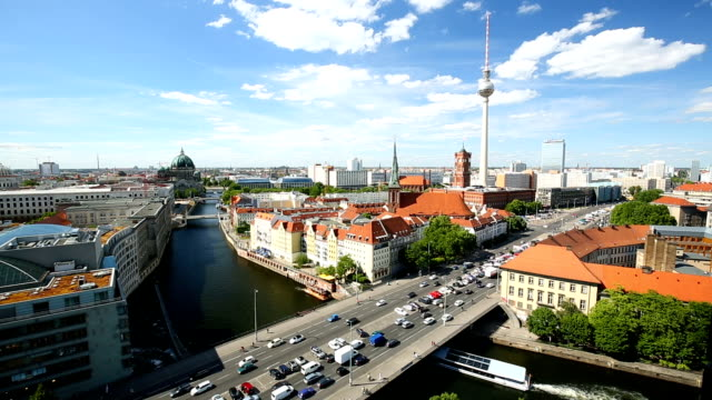 berlin skyline with tv tower, timelapse - balkon stock videos & royalty-free footage