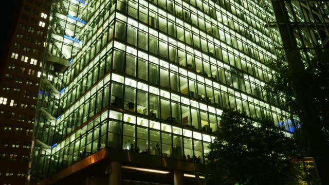 TU Berlin Sony Center On Potsdamer Platz At Night (4K/UHD to HD).