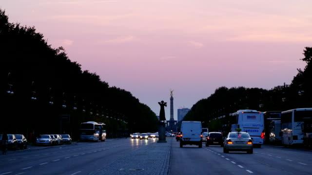 Berlin Strasse des 17. Juni At Dusk (4K/UHD to HD)