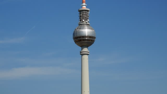 berlin television tower - ultra high definition television stock videos & royalty-free footage