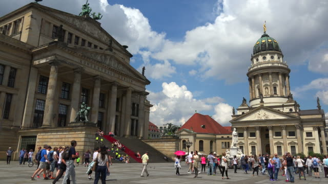 Berlin Theatre and French Cathedral on Gendarmenmarkt Square, Berlin, Germany