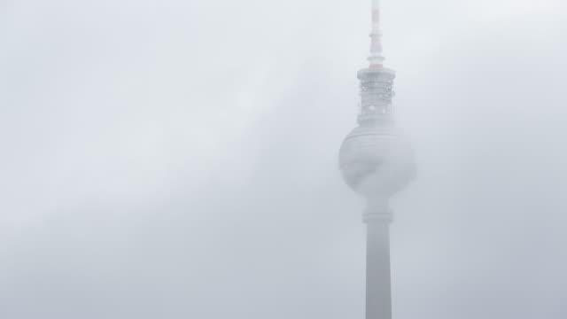 Berlin TV Tower Foggy Timelapse