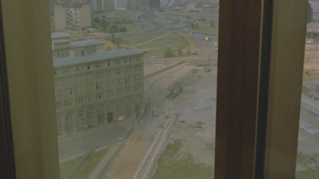 h-d berlin; various takes/view including pov from window of berlin wall - cold war stock videos & royalty-free footage