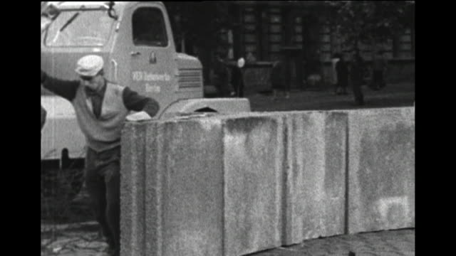 berlin wall being built 1961 - 1961 stock videos & royalty-free footage