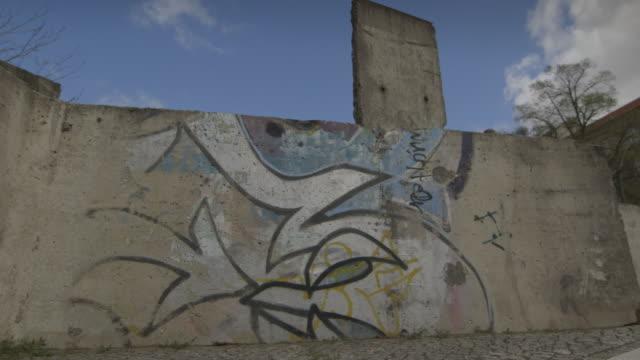 berlin wall - spray painting stock videos & royalty-free footage