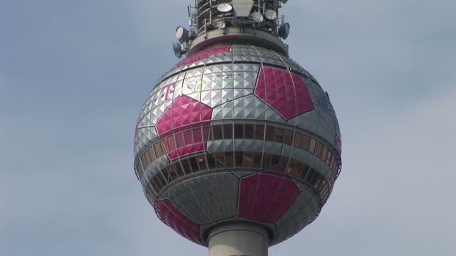 BerlinClose view of Fernsehturm tower in Berlin Germany