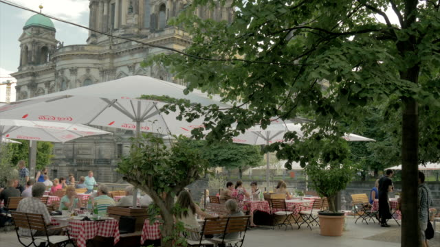 berliner dom,restaurant,,river spree,ms, - german culture stock videos & royalty-free footage