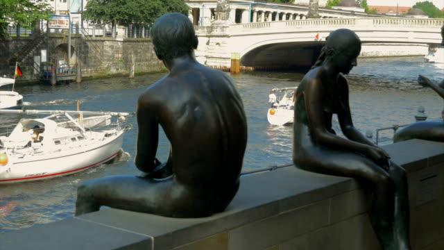 Berliner Dom,river Spree,Statues,Boats,ZO,