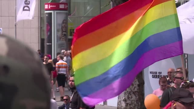 berliners come out for the city's gay pride parade the first pride march since germany legalised same sex marriage - parade stock videos & royalty-free footage