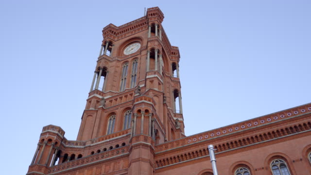 berlin's red town hall - rathaus stock videos & royalty-free footage