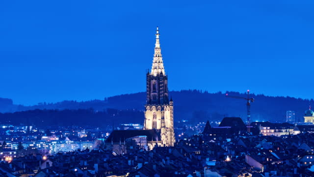 4k: bern cityscape, bern, switzerland, time lapse - switzerland stock videos & royalty-free footage