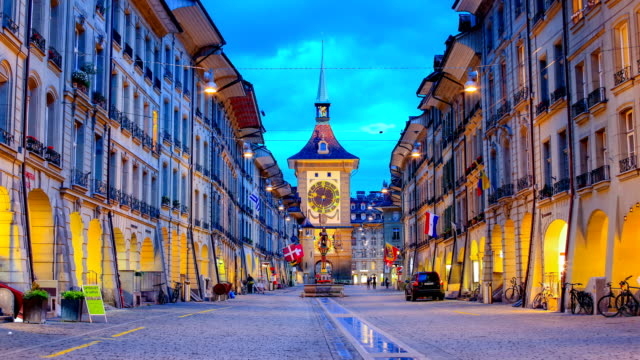 bern, switzerland - clock tower stock videos & royalty-free footage
