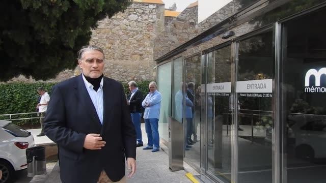 bernabé martí son of opera singer montserrat caballe attends montserrat caballe chapel at tanatori de les corts - montserrat caballé stock videos & royalty-free footage