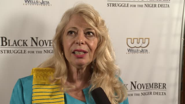 bernadette paolo talks about corporations being part of the solution so that the niger delta environmental issues don't happen again black november... - john f. kennedy center for the performing arts stock videos and b-roll footage