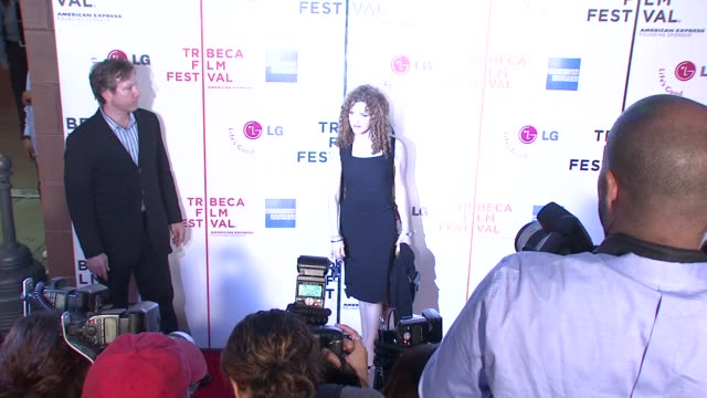 bernadette peters and guest at the 7th annual tribeca film festival i am because we are premiere at borough of manhattan community college / tribeca... - バーナデット ピータース点の映像素材/bロール