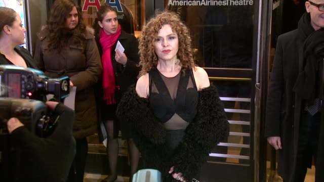 bernadette peters at on the twentieth century opening night at roundabout theatre company's american airlines theatre on march 12 2015 in new york... - バーナデット ピータース点の映像素材/bロール