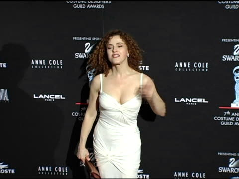 bernadette peters at the 7th annual costume designers guild awards gala at the beverly hilton in beverly hills california on february 19 2005 - バーナデット ピータース点の映像素材/bロール