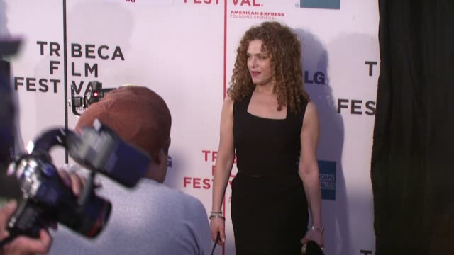 "bernadette peters at the 7th annual tribeca film festival - ""i am because we are"" premiere at borough of manhattan community college / tribeca... - community college stock videos & royalty-free footage"