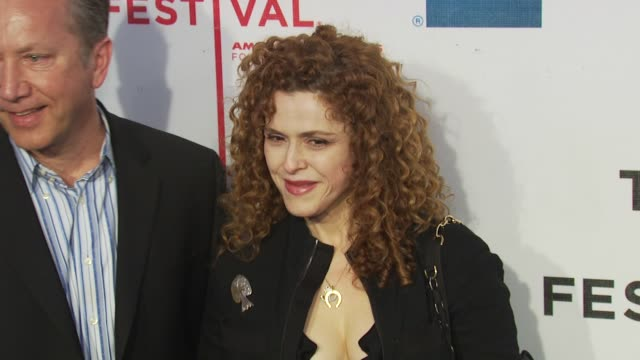 bernadette peters at the 'my own love song' premiere 9th annual tribeca film fest at new york ny - バーナデット ピータース点の映像素材/bロール