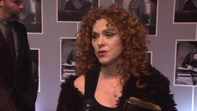 interview bernadette peters on how much of carole king's work is iconic on how hard it must be to see one's life portrayed on stage at beautiful the... - バーナデット ピータース点の映像素材/bロール