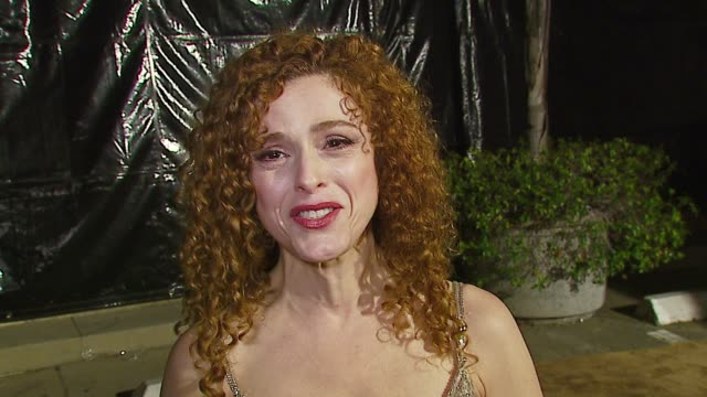 bernadette peters on watching stage stars in the ed sullivan show her first performance the theater experience her definition of romance at the 'a... - バーナデット ピータース点の映像素材/bロール