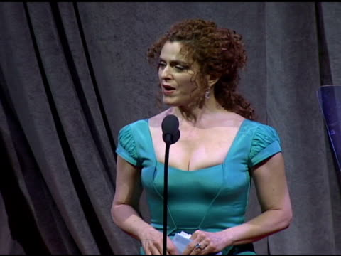 Bernadette Peters presents FiFi Award at the Fragrance Foundation Presents 36th Annual FiFi Awards and Celebration at the Park Avenue Armory in New...