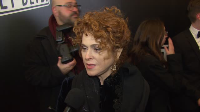 INTERVIEW Bernadette Peters talks about her excitement at seeing Glenn Close return to the lead role at 'Sunset Boulevard' Opening Night at Palace...